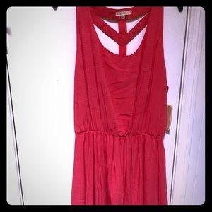 Bright red/pink summer dress size xl